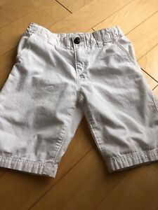 H and M white cotton shorts size 5