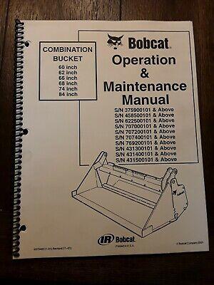 Bobcat Combination Bucket 606266687484in Operation Maintenance Manual