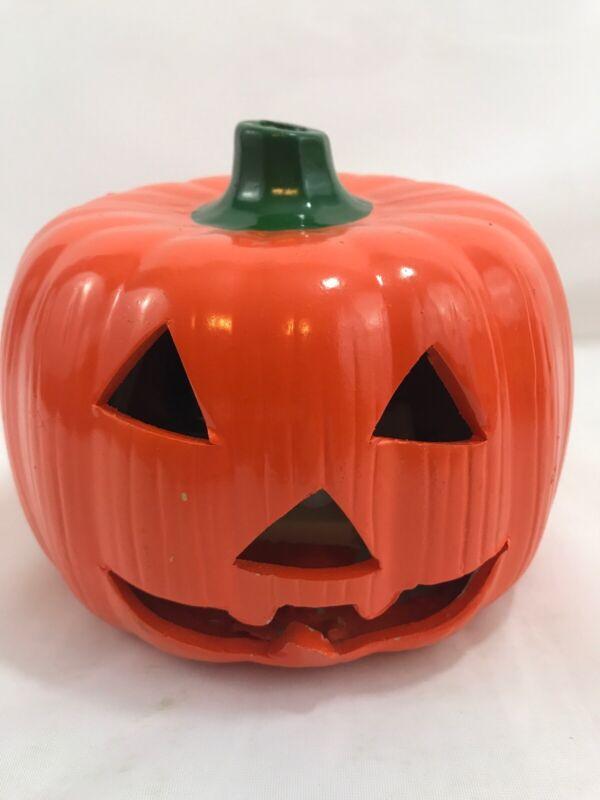 Frite Nite Vintage Ceramic Handpainted Pumpkin Jack-O-Lantern 1989 Original Box