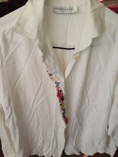 Sportcraft women size 12 embroidery blouse