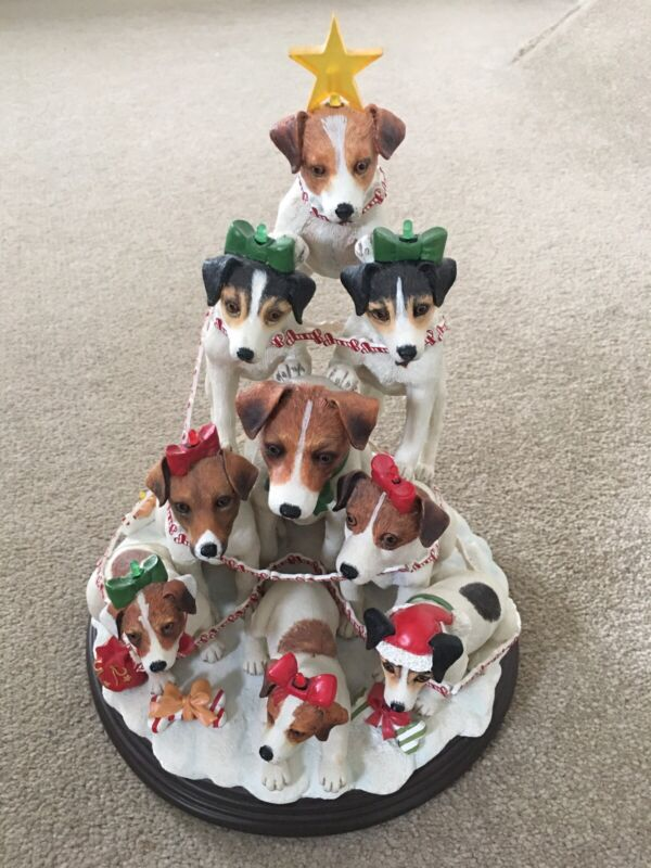 Danbury Mint Jack Russell Family Tree Rare