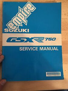 Suzuki GSX-R 750 shop manual
