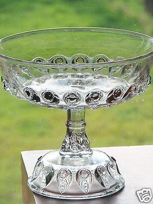 Thompson Glass TORPEDO aka FISHEYE Tall Compote - Clean and Clear