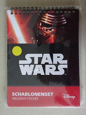 XXXX Star Wars Schablonenset , Malen , Sticker , Malbuch , Disney , NEU