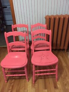 Set of four painted Antique Chairs