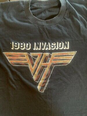 Van Halen 1980 Original Invasion concert shirt ac/dc iron maiden rock