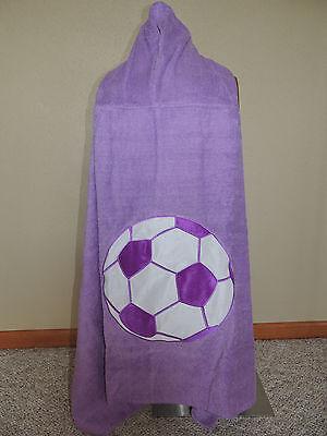 Company Store Kids Girls Youth Purple Soccer Hooded Beach Bath Swim Pool Towel