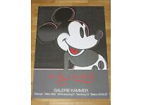 ANDY WARHOL POSTER MICKEY MOUSE 1982 EXHIBITION PLAKAT