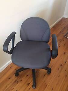 Officeworks Office chair: steel grey, great condition, arms Engadine Sutherland Area Preview