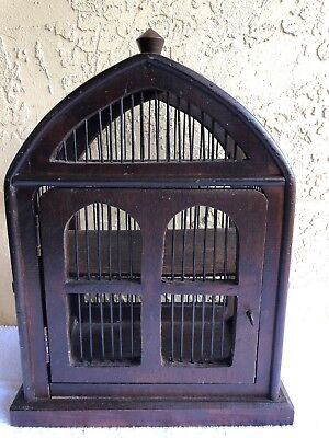 Vintage Wood and Wire Decorative Bird Cage