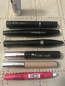 $ 20 lot of 7 mascara, sun screen and eye line etc.