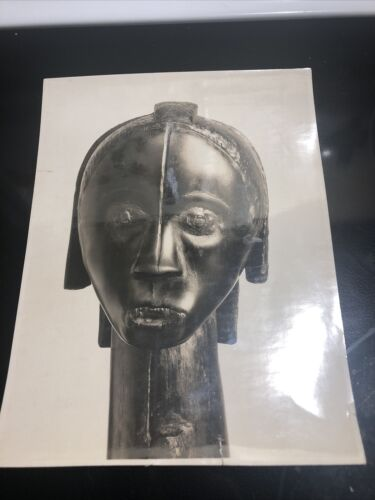 Vintage Photo African Carving Mummy Woman - $5.00
