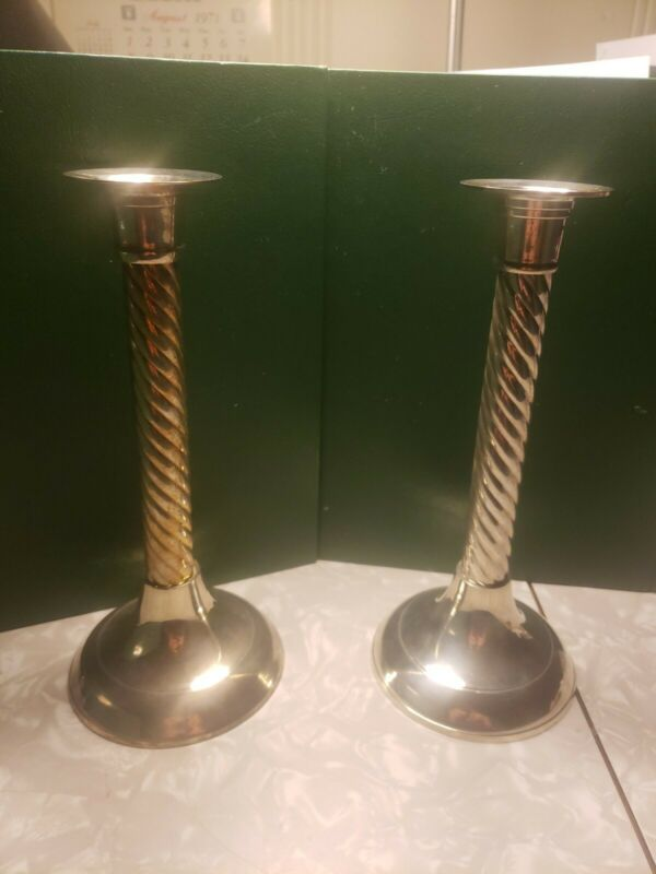 Silverplated Candlesticks (Pair Of 2)