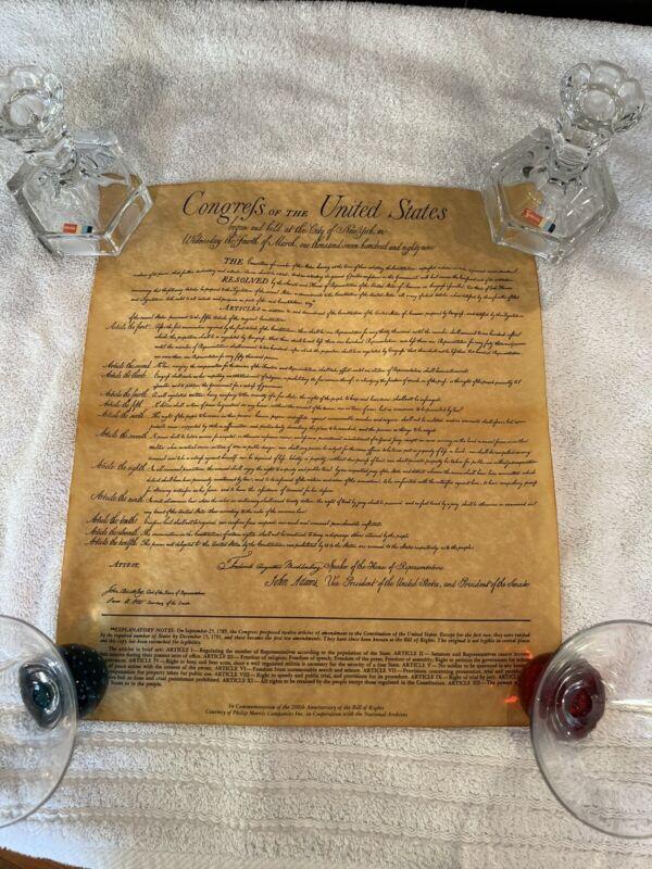 VINTAGE BILL OF RIGHTS 200th ANNIVERSARY COPY PHILLIP MORRIS 1989 ORIGINAL TUBE