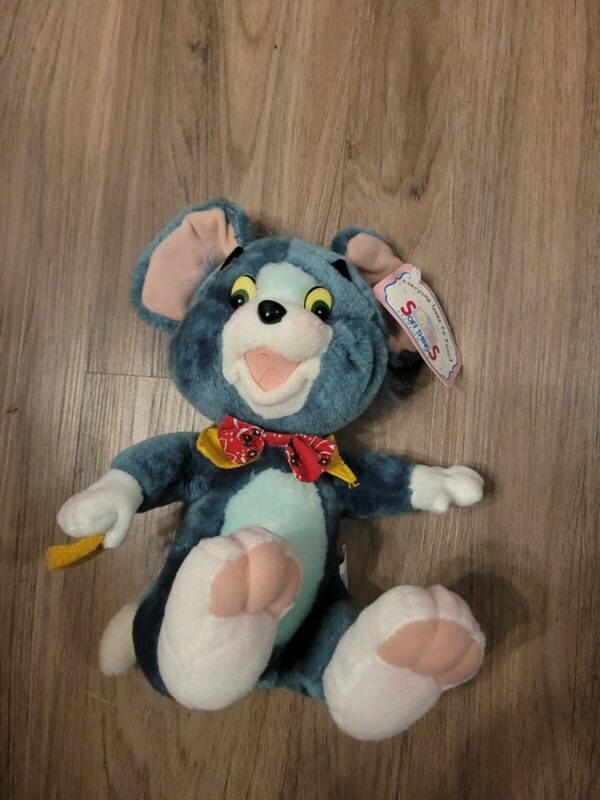 Tom And Jerry Soft Things Bow Tie Blue Mouse 10 Inch Plush New