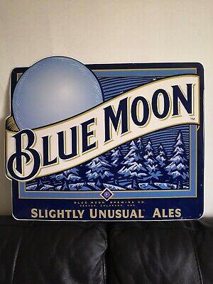 Vintage Blue Moon Metal Advertising Sign - Not Enamel Man City Man Cave 90s VGC