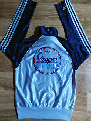 Adidas Originals Vespa Servizio Track Top Jacket Navy Blue Stripes Hype Shiny