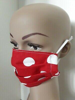 Atemschutzmaske Staubmaske Mundschutz  waschbar Rot Handarbeit Neu - Rote Masken