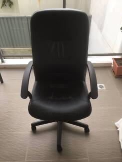 Black office leather chair