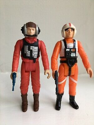 Vintage Star Wars Figures Luke X-Wing B-Wing Rebel Pilots..