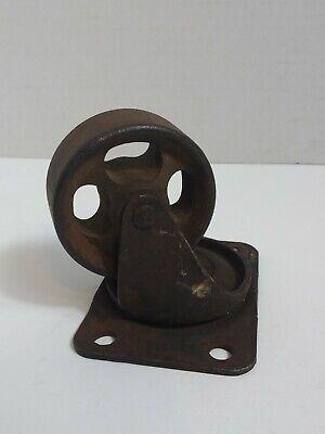 Antique Swivel Wheels Industrial Caster Cast Iron Steel Steampunk Heavy Duty