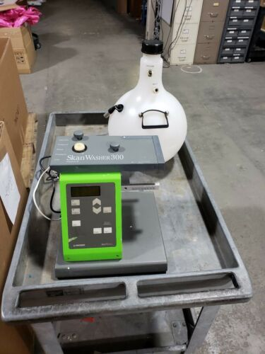 Skatron Skan Washer 300 Version B Microplate Washer w/ Waste Bottle