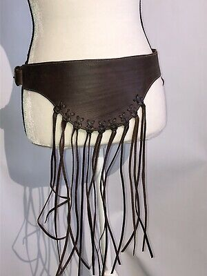 Motif 56 Genuine Leather Belt Brown Striped Size L (Brown Striped Belt)