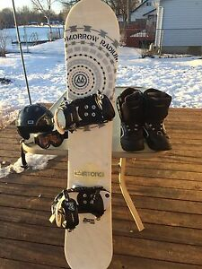Morrow snowboard and accessories