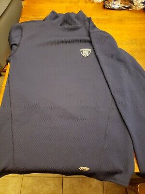 New REEBOK NFL EQUIPMENT Long sleeve Navy Blue thermal shirt youth Large