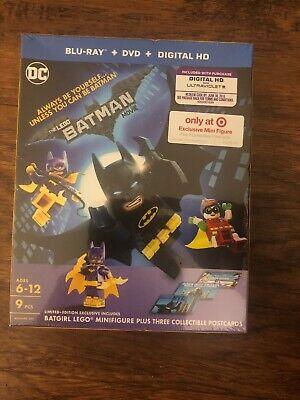 The Lego Batman Movie (Blu-ray/DVD, Digital HD) Target Exclusive Mini Figure NEW