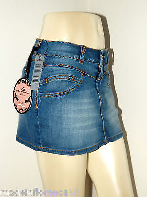 SCONTO 50% FORNARINA MINIGONNA JEANS TG. M VILMA STRETCH DENIM SKIRT GONNA