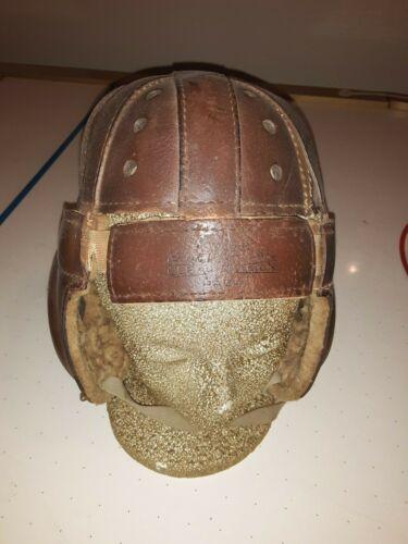 Vintage Knute Rockne leather Wilson football helmet, with chin strap