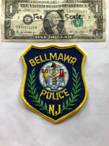 Bellmawr New Jersey Police Patch un-sewn Great Shape