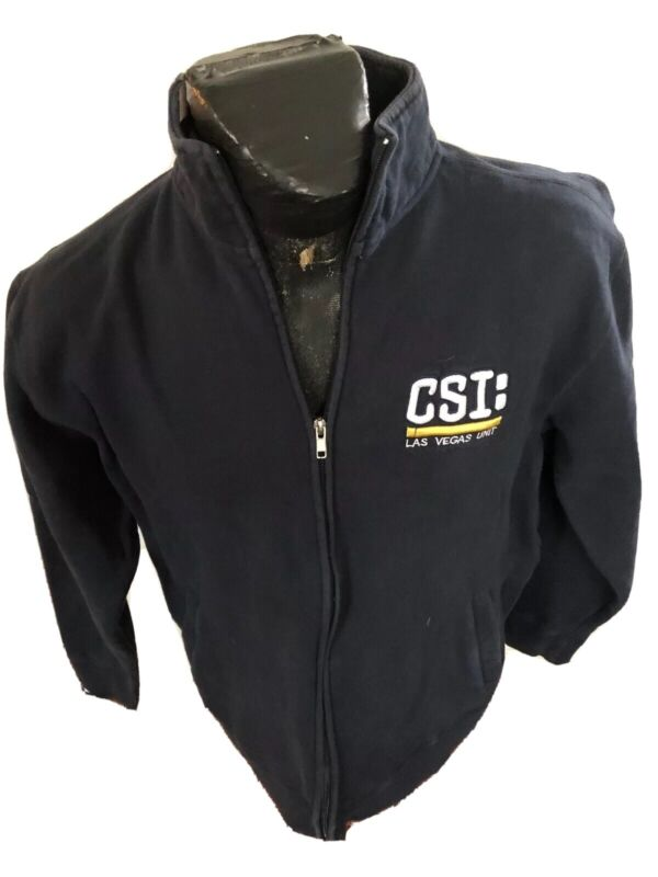 MENS Large Zip Front Sweat Shirt CSI: Las Vegas Unit TV Series