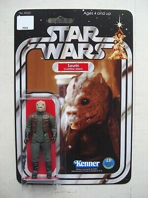 Vintage STAR WARS SAURIN CANTINA ALIEN CUSTOM on New Hope Style MOC