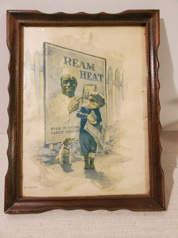 VINTAGE 1924 CREAM OF WHEAT AD FRAMED