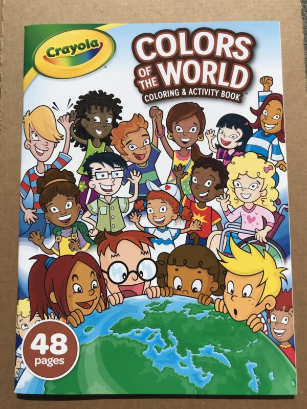 Crayola Colors Of The World Coloring And Activity Book- Brand New