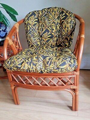 Rattan Wicker Handmade Chair model Calla with Cushions ()