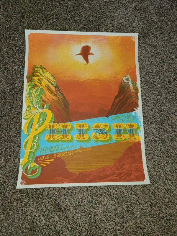 Phish red rocks poster