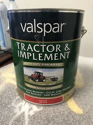 Valspar 4431-02 Mf Massey Ferguson Red Tractor And Implement Paint - 1 Gallon