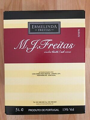 MJ Freitas Vinho Tinto Rotwein Portugal Bag in Box Vinho BiB 5L Liter