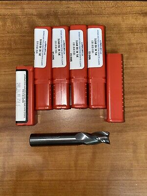 12 3fl Se Solid Carbide End Mill Lot Of 5 Pieces Brand New Usa Made