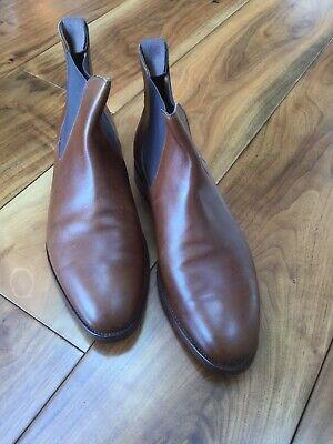 John Lobb Men's Brown Leather Chelsea Boots Size 9-E