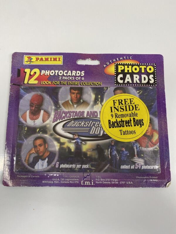 Backstreet Boys Panini Photo Cards. 6 Per Pack- Factory Sealed. Vintage
