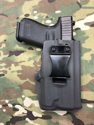 Battleship Grey Kydex AIWB Holster for Glock 19//23//32 w//adj Retention