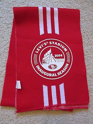 "New San Francisco 49ers Scarf Levi Stadium Come To Play Inaugural Season 48""x8"""