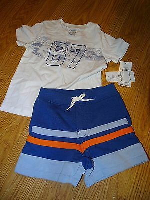 Ralph Lauren Baby Boys' Graphic T-Shirt & Striped Shorts Set Size 9 Months NWT