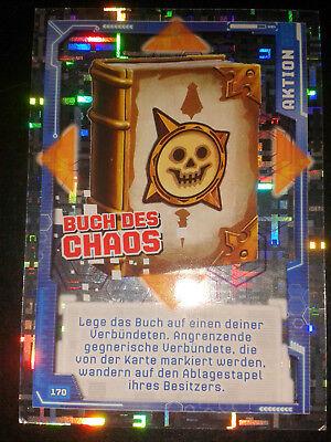 LEGO Nexo Knights Nr.170 Buch des Chaos Glitzerkarte Sammelkarte Trading Card