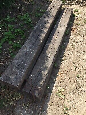 3 x Reclaimed Traditional Timber Railway Rail Road Landscaping Sleepers