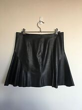 Black leather skirt size 8 Collaroy Manly Area Preview